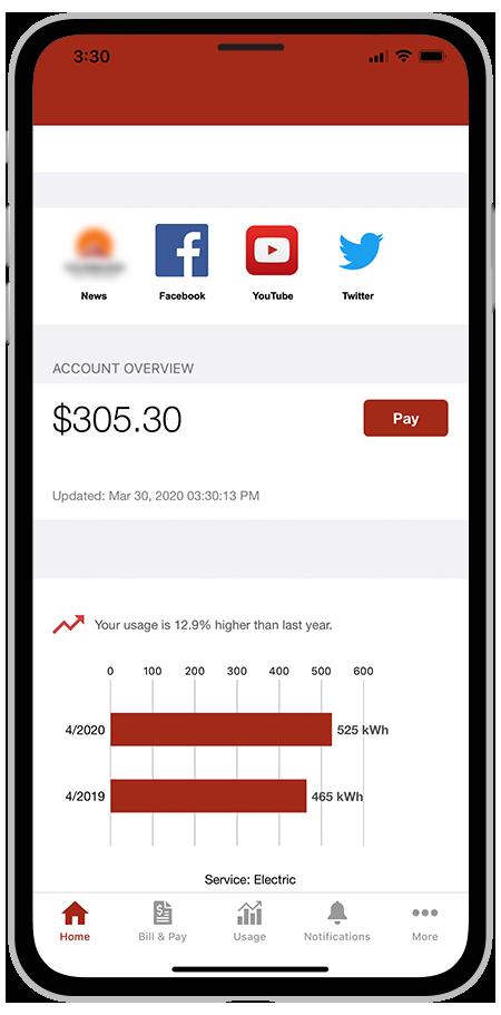 SmartHub Mobile App - Home
